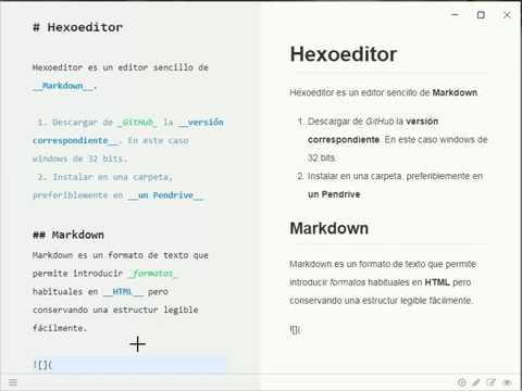 Editor Markdown Hexoeditor: Instalación Portable en Windows
