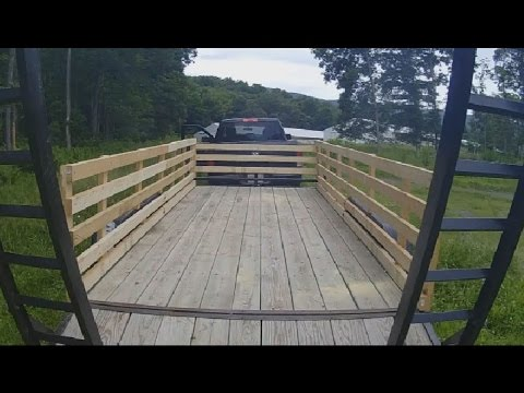 Putting wooden sides on a small trailer