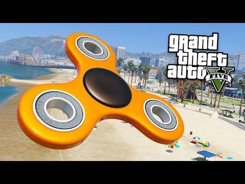 WORLD'S BIGGEST FIDGET SPINNER!! (GTA 5 Mods)