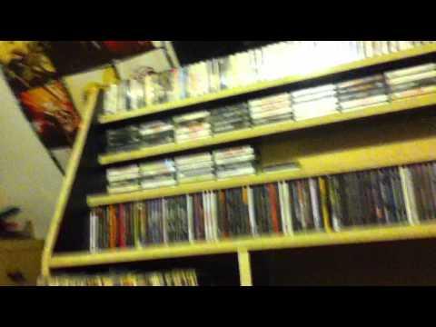 Custom Music shelf -Vinyl, CDs, and Cassettes