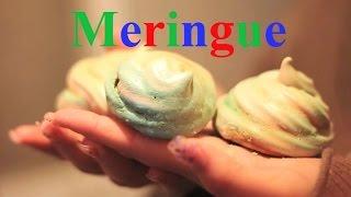 Asmr Meringue Cookies Making | Food Coloring | Relaxing(✿◠‿◠)