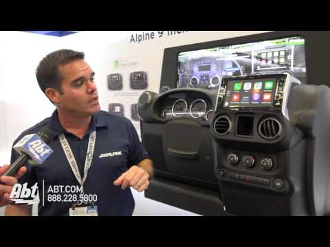 Alpine i109-WRA 9 Inch Apple CarPlay - Abt CES 2016