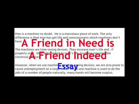 Essay On A Friend In Need Is A Friend Indeed English Essay For  Essay On A Friend In Need Is A Friend Indeed English Essay For Class   And  How To Write An Essay Thesis also Compare And Contrast Essay Papers Wonder Of Science Essay