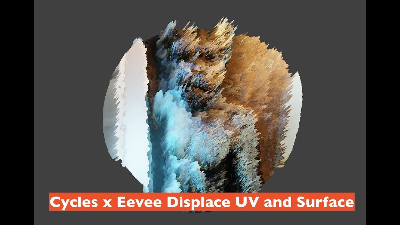 LIVENODING / Cycles x Eevee Procedural Texture Displacement UV Mashup