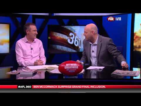 BEN MCCORMACK FOX FOOTY FAN STUDIO