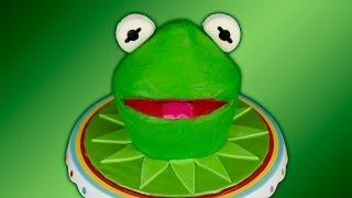 Kermit The Frog Cake / Muppets Cake Using Green Velvet Cake By Cookies Cupcakes And Cardio