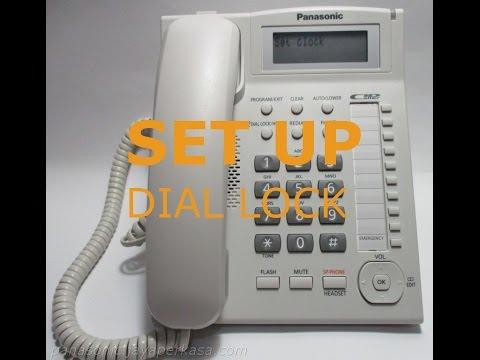 SET UP DIAL LOCK TELEPHONE PANASONIC KX-TS880