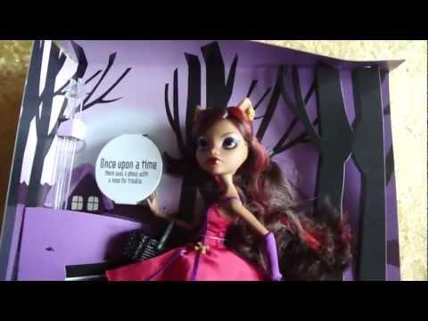Обзор куклы Monster High Scary Tales. Красная шапочка Клодин.