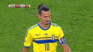 Zlatan Ibrahimovic vs Russia (Away) 15-16 HD 1080i by Ibra10i