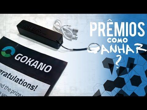 Gokano Unboxing - Power Bank + Como Ganhar Prêmios (iPhone 7, PS4, Drone...)