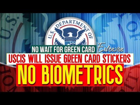 Green Card Stickers | No Biometrics | USCIS Alert announces Extension of Validity i-797, i-90, i-551