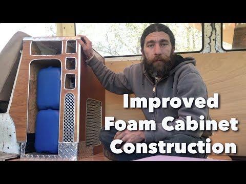 Improvements on Building Foam Cabinets for Camper Van