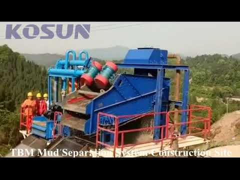 KOSUN TBM Mud Separation System Used in Chongqing Water Project Construction Site