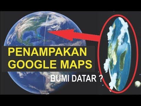 Fakta Bumi Datar terbaru Terlihat dari Google Maps