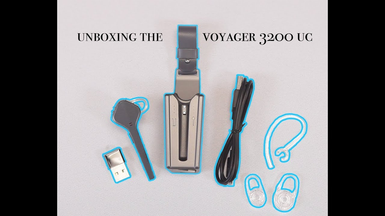 Unboxing the Plantronics Voyager 3200 UC