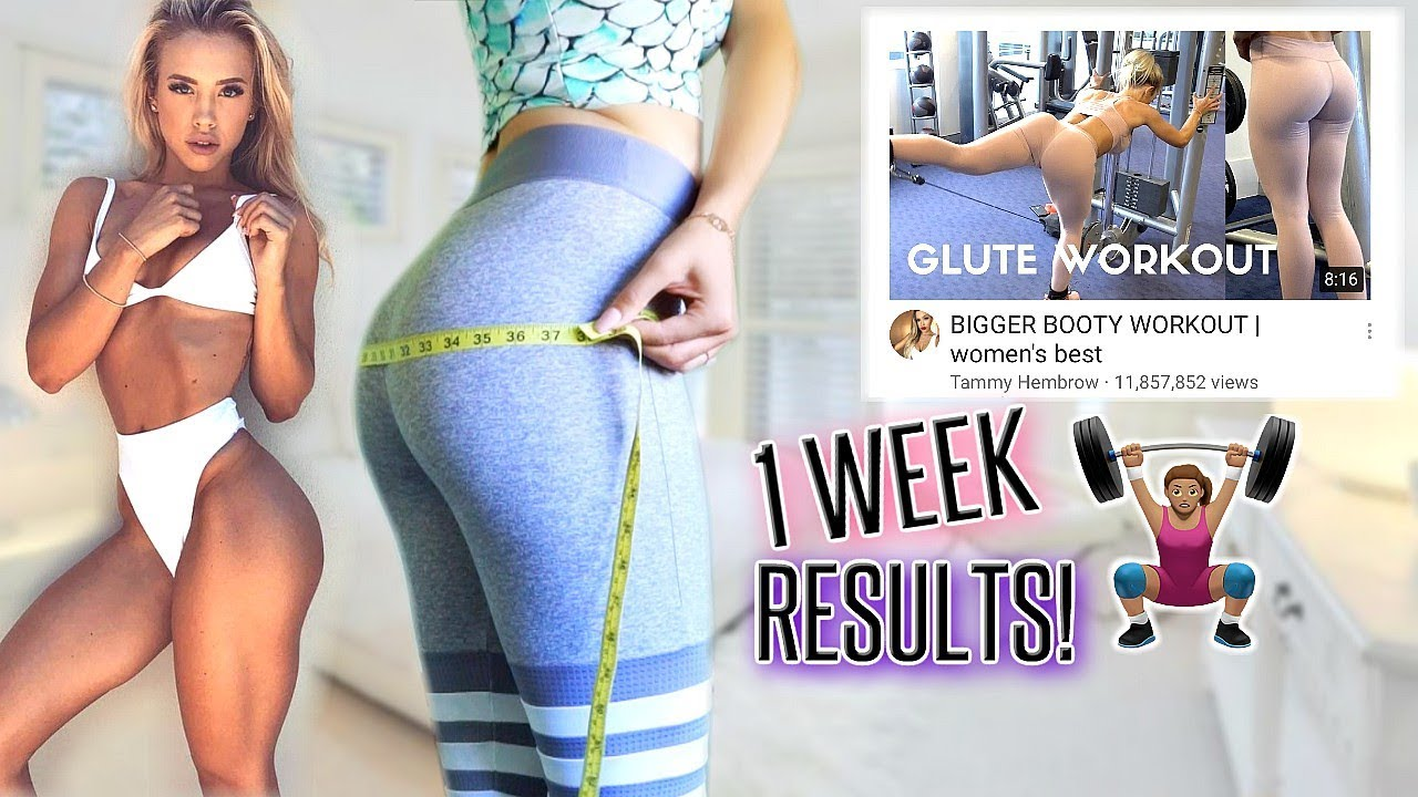 abc74bf4ab I DID Tammy Hembrow s GLUTE WORKOUT FOR A WEEK! My results😳 - YouTube