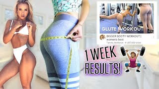 I DID Tammy Hembrow's GLUTE WORKOUT FOR A WEEK! My results😳