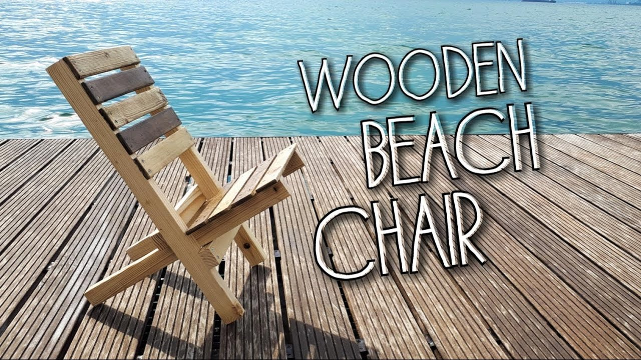 Folding Wood Beach Chair Diy Wooden Camp Beach Chair English Subtitles