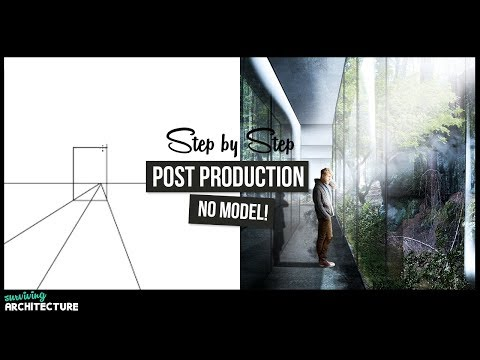 Architecture Visualization Rendering | Photoshop Post Production