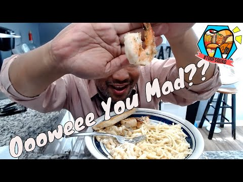 linguine-&-clams-in-garlic-cream-sauce-|-lobster-mac-n'-cheese-|-leftovers-mukbang-|-lunch-hour-eats