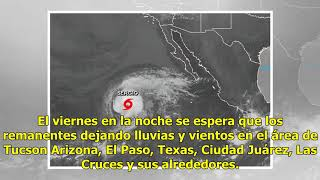 Lluvias provocadas por tormenta tropical Sergio afectarán Ciudad Juárez