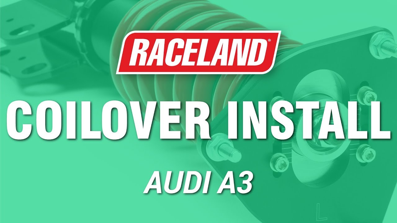 How To Install Raceland Audi A3 Coilovers Youtube