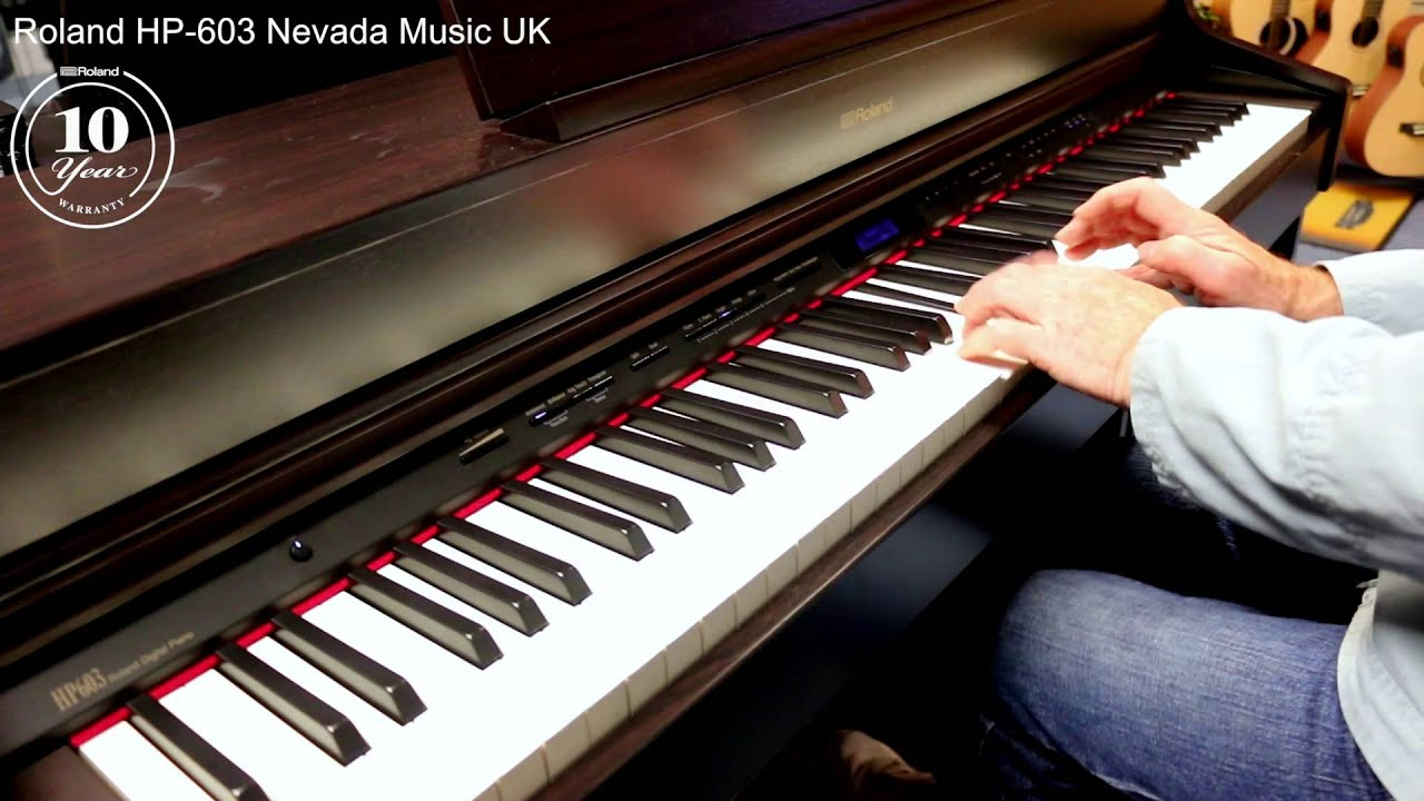 roland hp 603 digital piano demo pmtvuk youtube. Black Bedroom Furniture Sets. Home Design Ideas