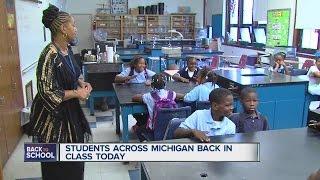 School begins in Michigan