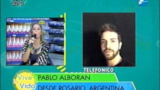 Contacto Telefonico con Pablo Alboran en Vive La Vida.
