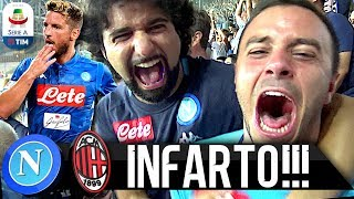 INFARTO!!! NAPOLI 3-2 MILAN | LIVE REACTION NAPOLETANI STADIO SAN PAOLO HD