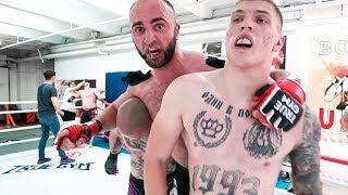 Crazy Russian Fight 3 vs 3 MMA Street Rules / Football hooligans vs MMA fighters