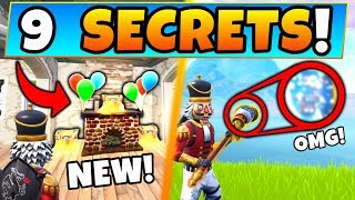 Fortnite: ONLY EXPERTS KNOW These 9 SECRETS! - Pickaxe Secret and New Spot! (Battle Royale Gameplay)