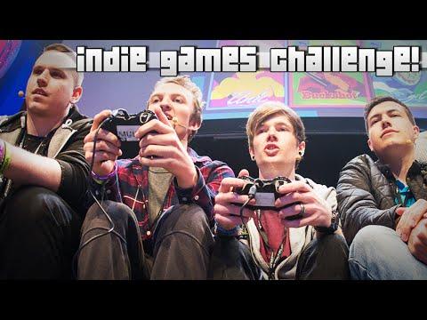 INDIE GAMES CHALLENGE!! w/DanTDM, AshDubh, MasterOv & Gizzy Gazza!!