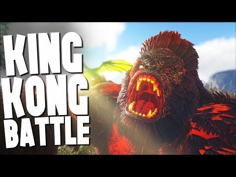 KING KONG DOMINUS GORILLA BATTLE!  Ark Survival Evolved Modded