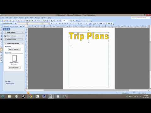 How to Make a Trip Itinerary Using Microsoft Publisher : Microsoft Graphic Design Programs