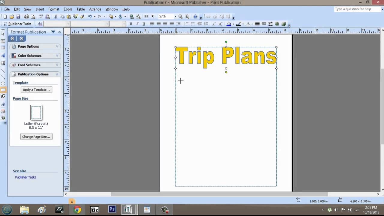 how to make a trip itinerary using microsoft publisher microsoft