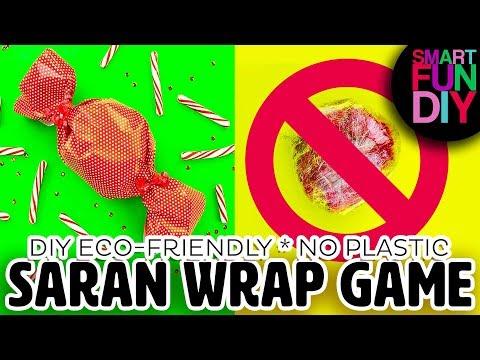Eco-friendly SARAN Wrap Ball Christmas Game 😱 NO PLASTIC WRAP! 😍 Plastic-free Green Alternative
