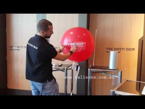 Vinyl transfer tip onto 3ft latex balloons