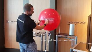 Vinyl transfer tip onto 3ft latex balloons
