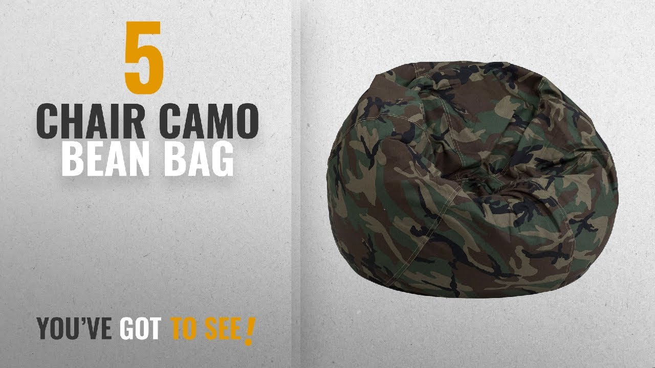 Top 10 Chair Camo Bean Bag [2018]: Flash Furniture Small Camouflage Kids Bean  Bag Chair