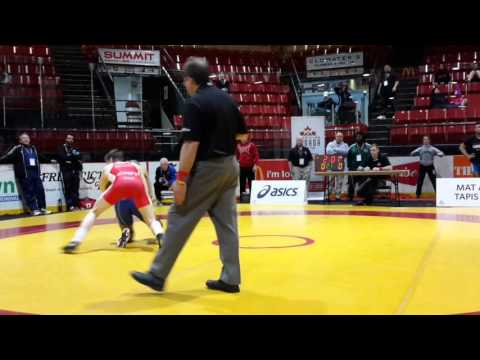 2016 Canadian Junior Championships: 74 kg Alex Moore vs. Devin Purewal