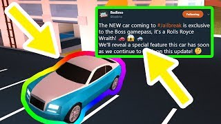 NEW Rolls Royce SPECIAL FEATURE! | Roblox Jailbreak