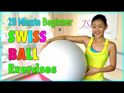 20 Minute Beginner Stability Swiss Ball Exercises (Low Impact)