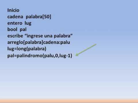 Pseudocódigo Palindromo