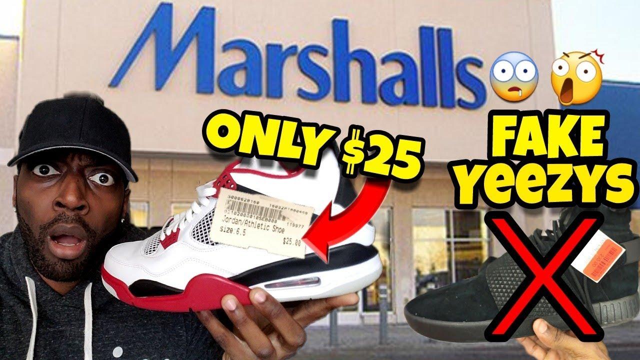 Marshall's has Fake Yeezys and Jordans