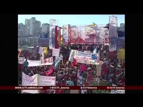 Venezuelans protest U.S. sanctions against their country