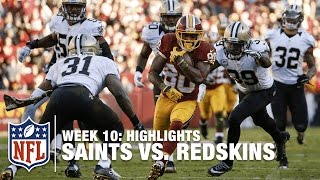 Saints vs. Redskins | Week 10 Highlights | NFL