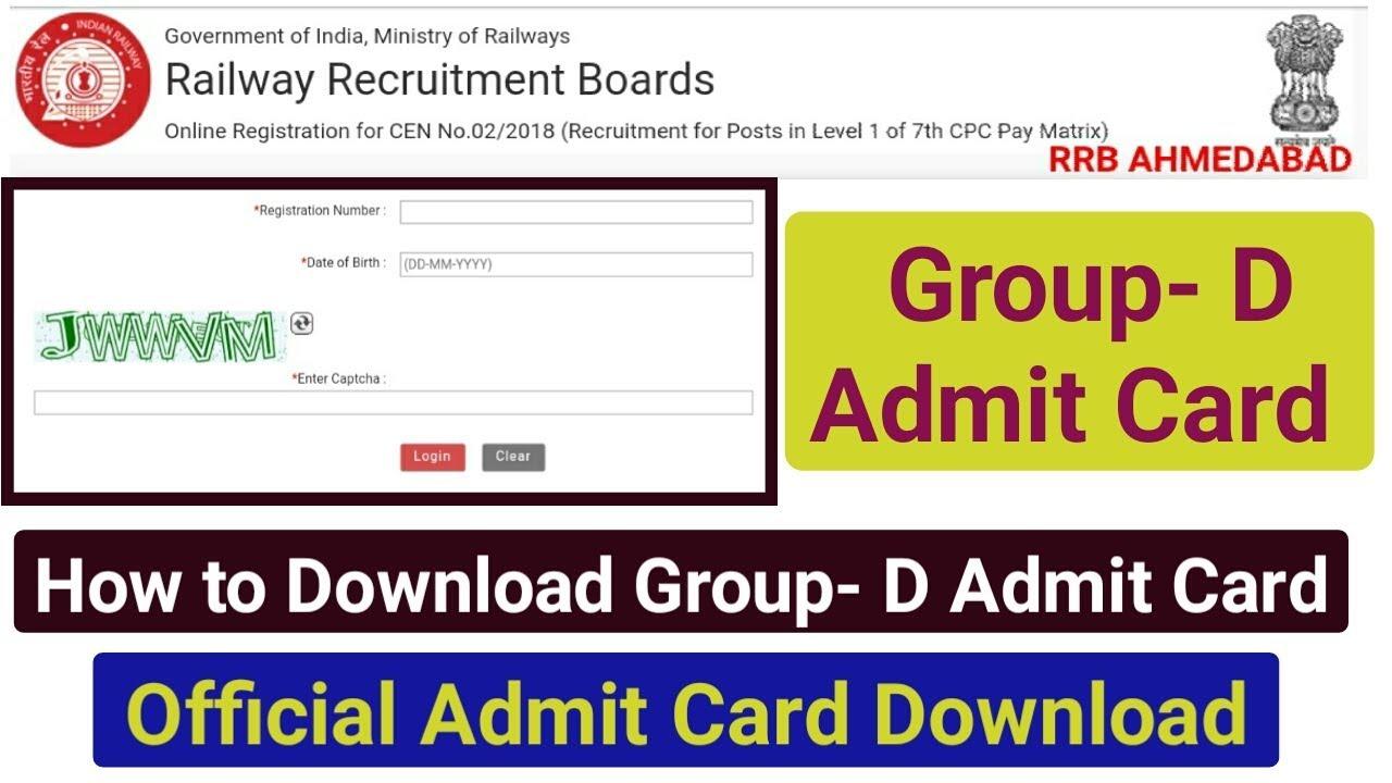 group d admit card