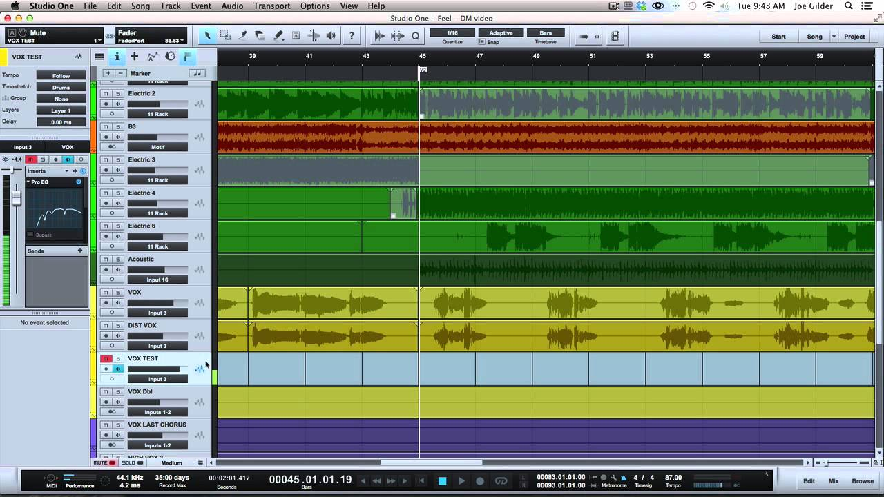 Recording and mixing - Magazine cover