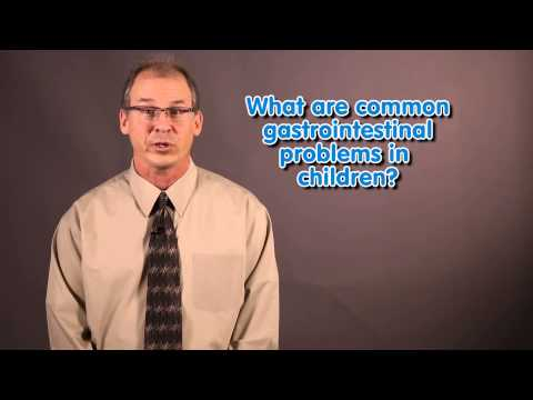 What are common gastrointestinal problems in children?